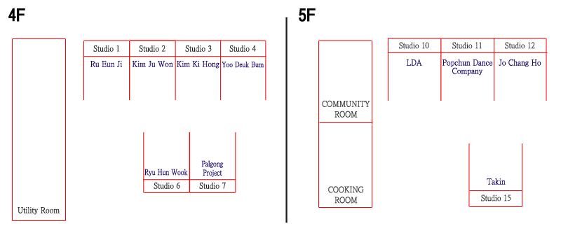 Studio location in Daegu Art Factory