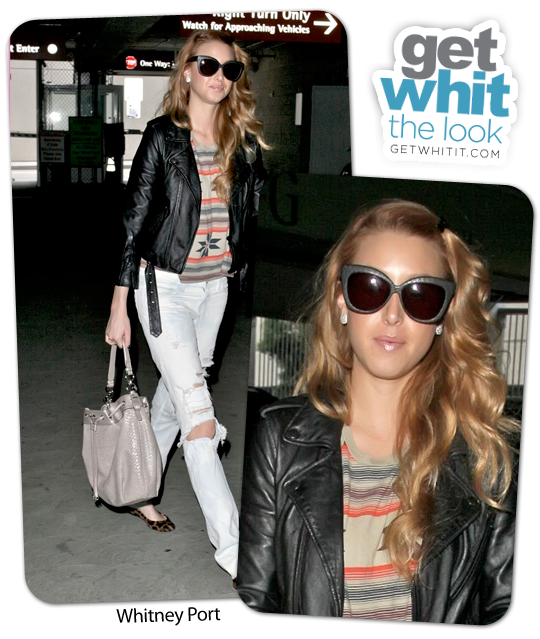 whitney port hair colour 2011. Whitney Port hit the streets