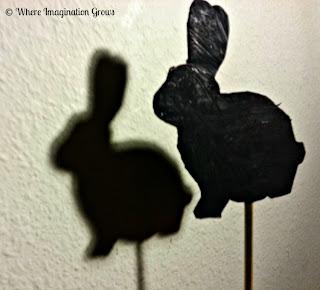 DIY Bunny Shadow Puppets