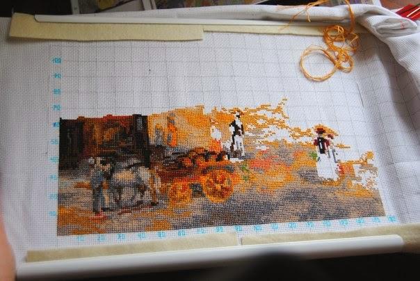 Схема вышивки площадь троицы париж