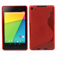 TPU Jelly Case for ASUS Google Nexus 7 2 ii - Red