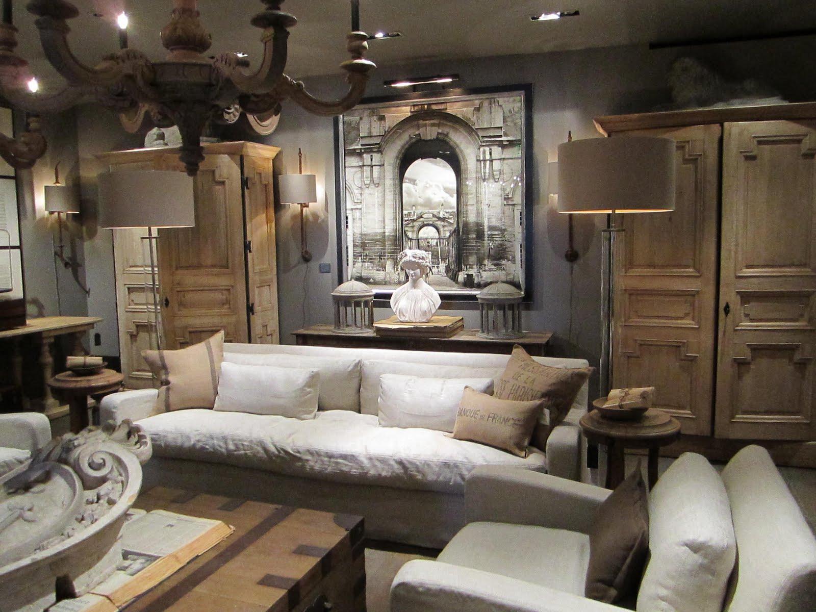 Restoration hardware living room photos