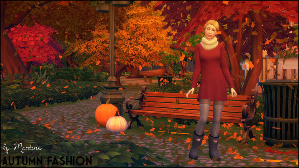 My Sims 4 Blog Autumn Fashion Scarf Raincoat Dress