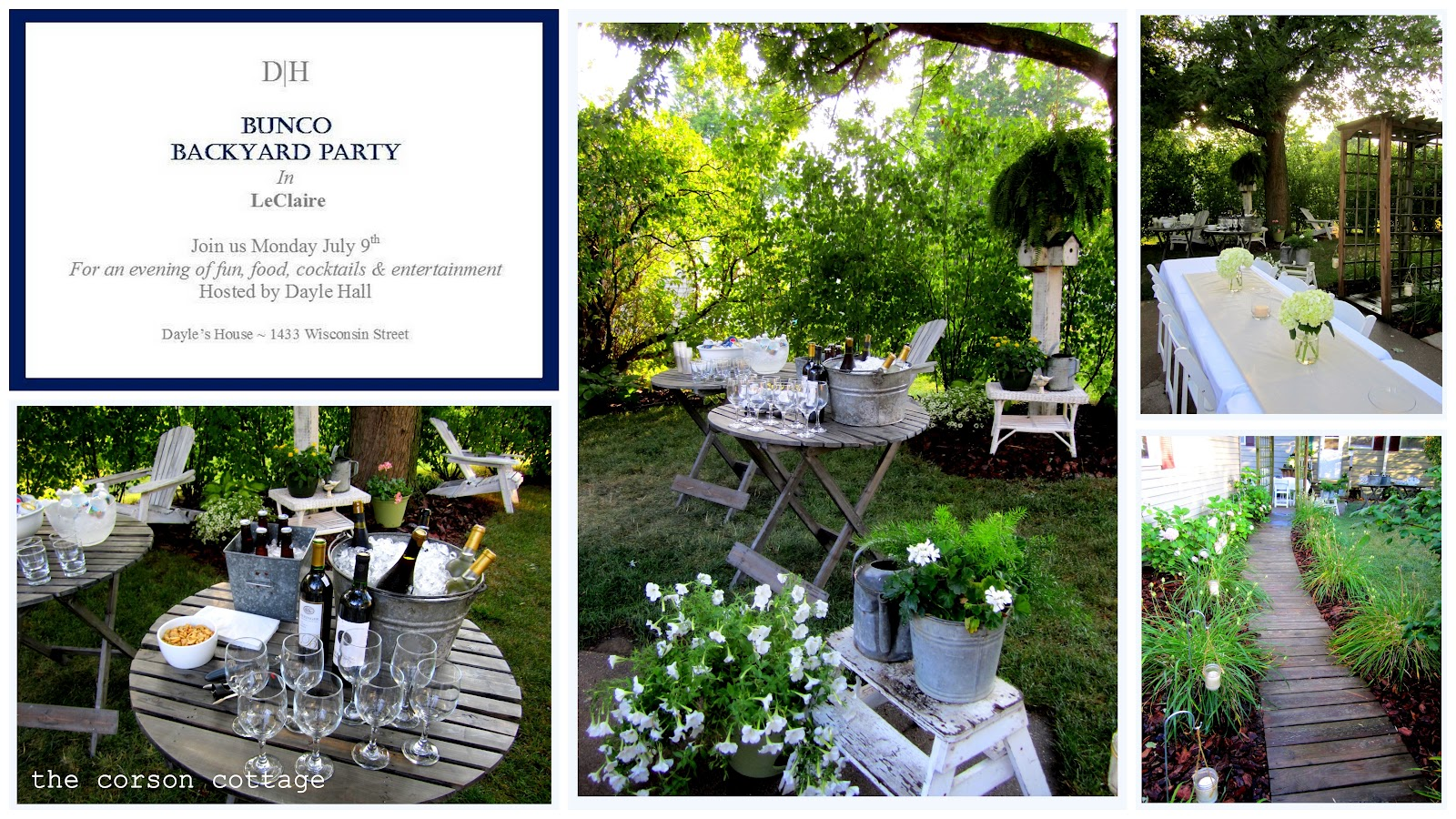 the corson cottage outdoor entertaining backyard party