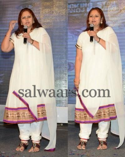 Jayasudha White Georgette Churidar