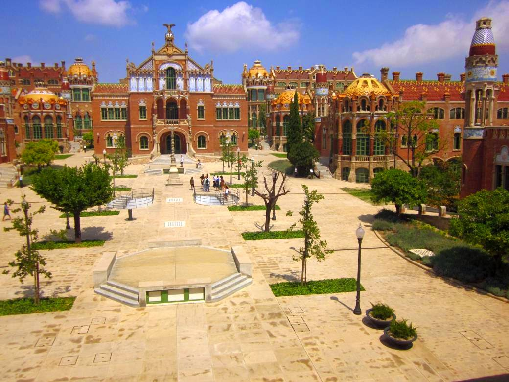 Gardens of Hospital de Sant Pau in Barcelona