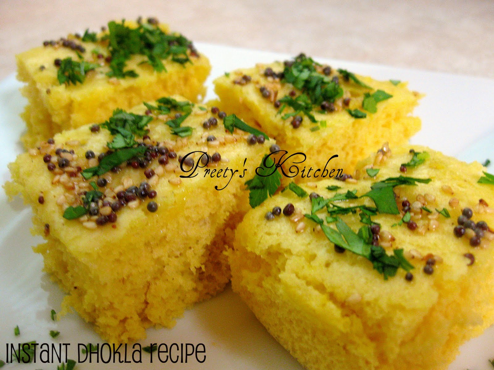 Preetys kitchen instant dhokla recipe steamed gram flour cakes instant dhokla recipe steamed gram flour cakes forumfinder Choice Image