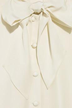 Silk Chiffon Blouse with a Feminine Sash Collar