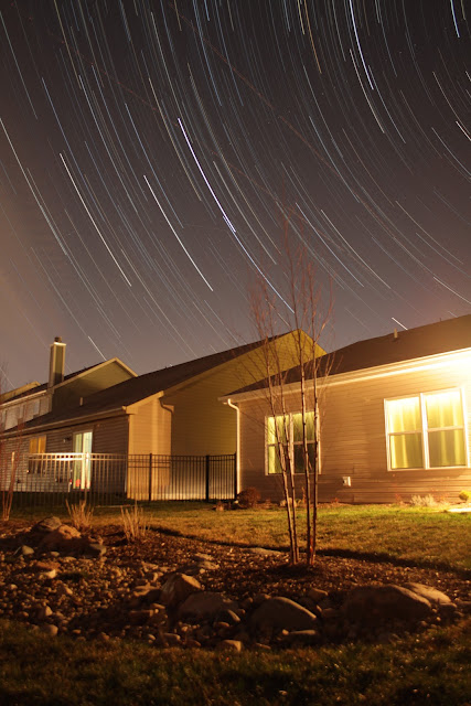 turn star trails into video