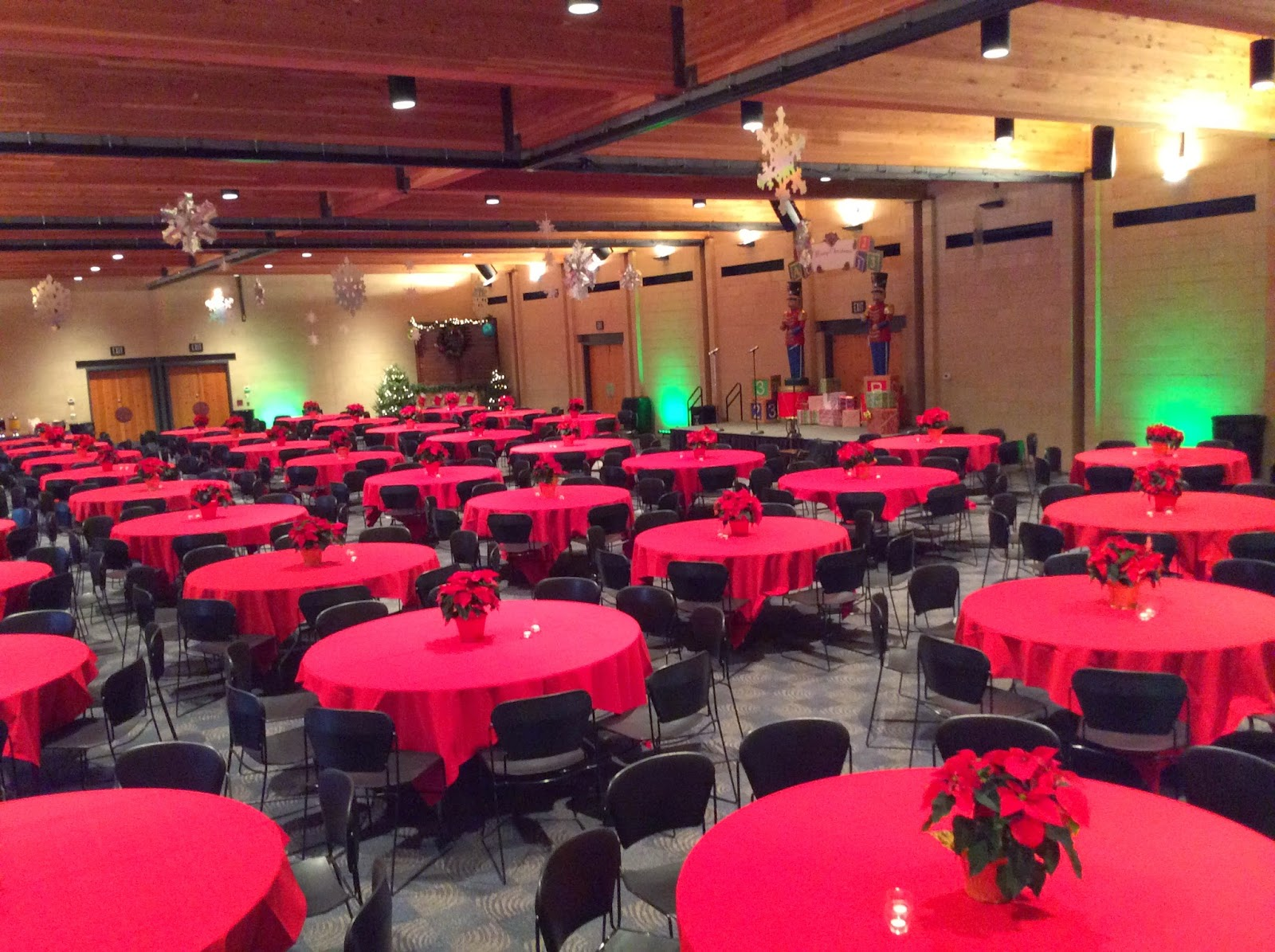 Addison Conference Center, Poinsettias, Culinary Art Catering