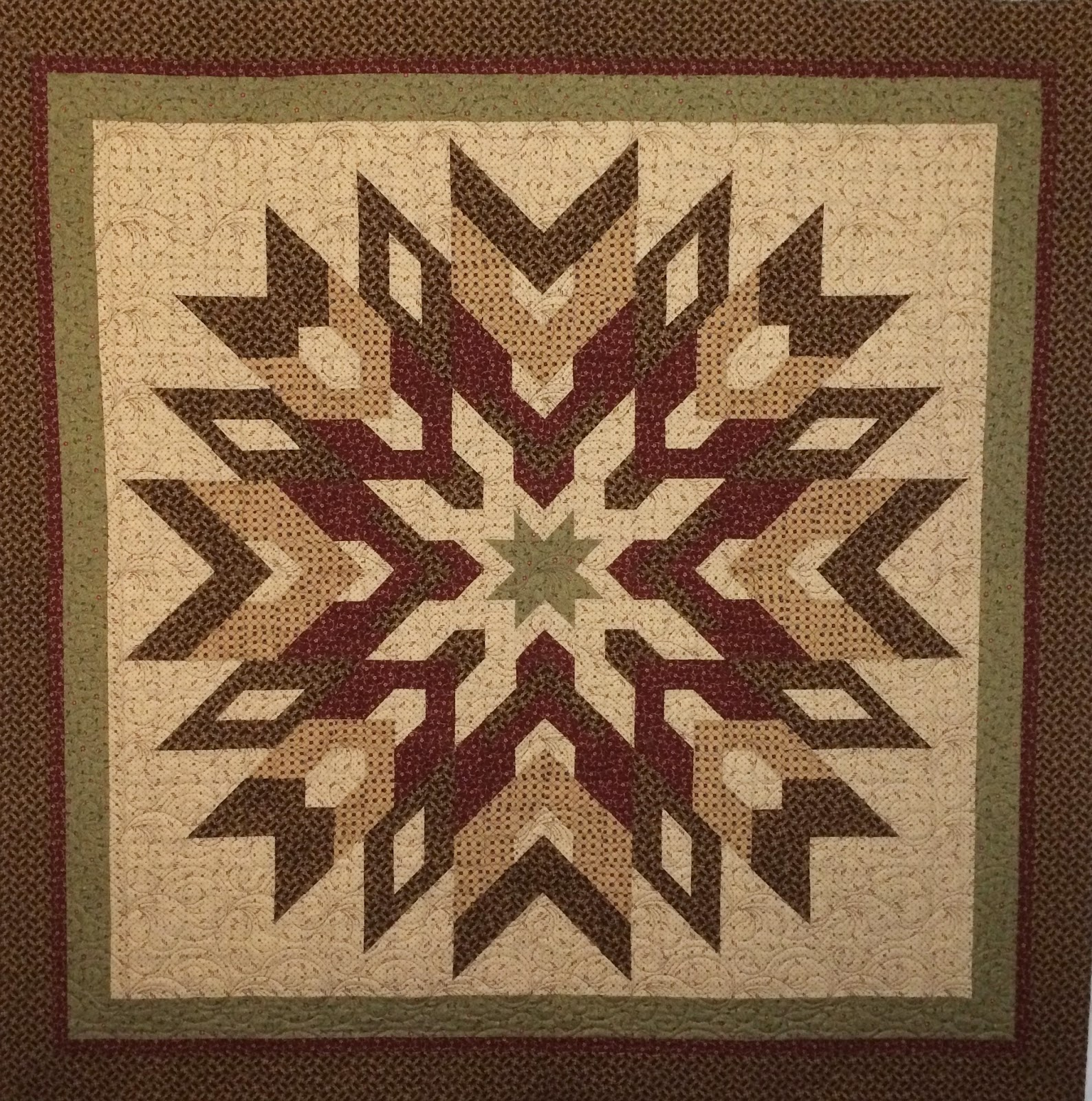 Ava Mahaffey's Snow Flake with 1890's Fabric Quilt