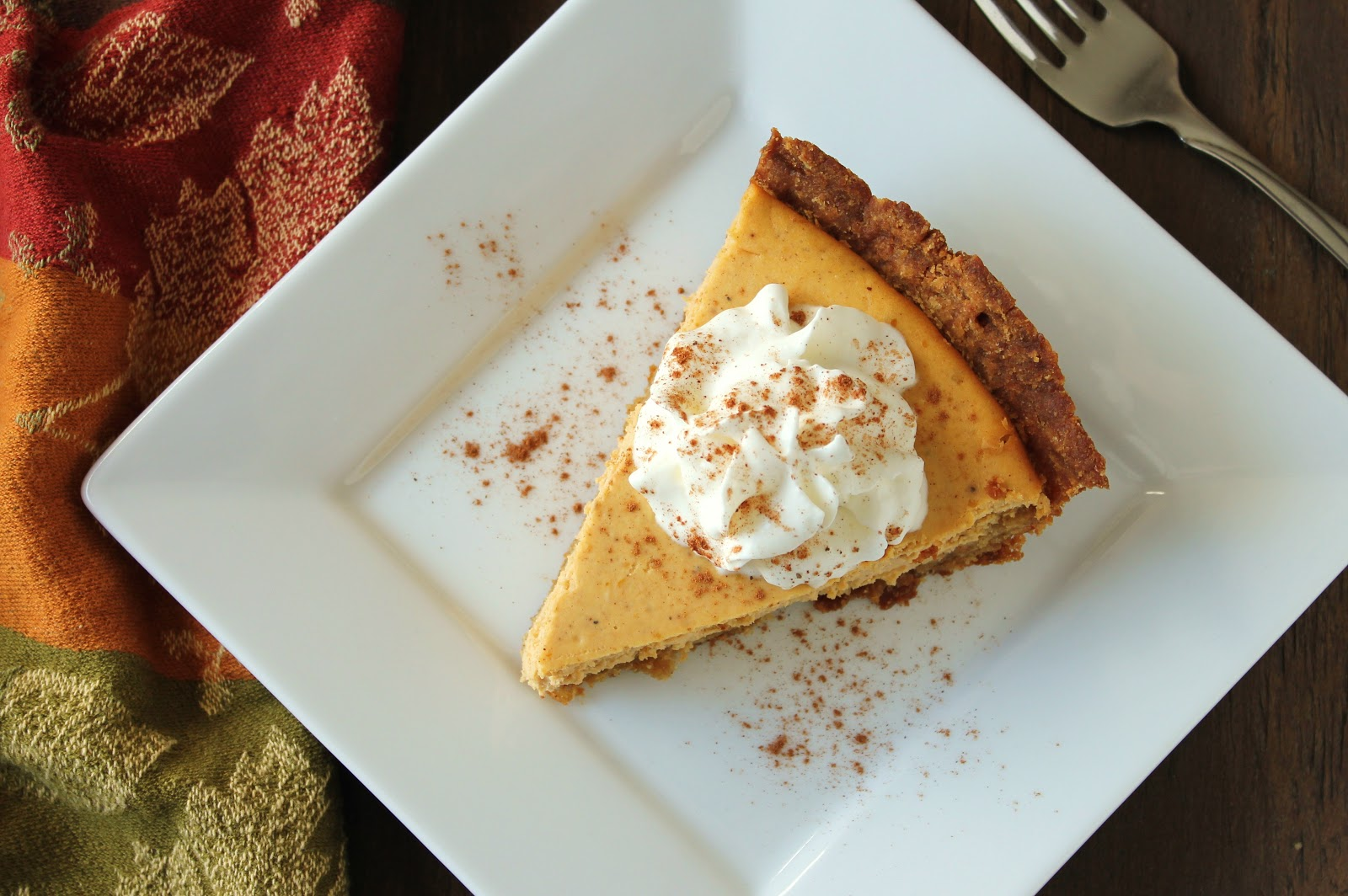 delicious and creamy pumpkin cheesecake made low-fructose by using ...