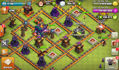 Download Clash of Clans Mod/Hack V7.200.19 APK Thunderbolt Server 2015