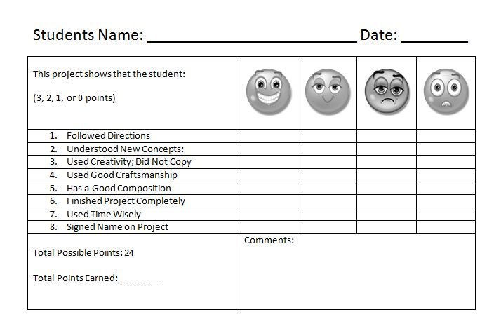 art rubric template new calendar template site With elementary rubric template