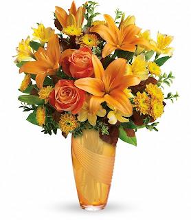 Order the Teleflora Amber Elegance Bouquet