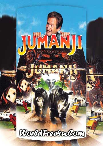 Poster Of Jumanji (1995) In Hindi English Dual Audio 300MB Compressed Small Size Pc Movie Free Download Only At worldfree4u.com