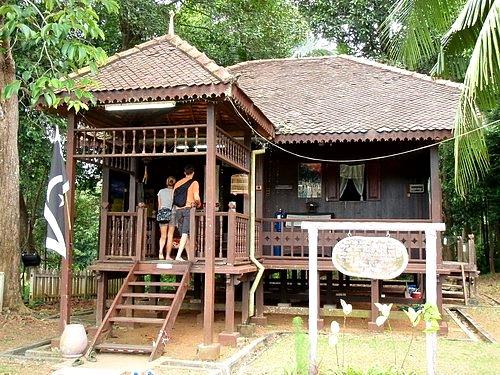 Ibu Sham Malaysian Traditional Houses Fridge Magnet