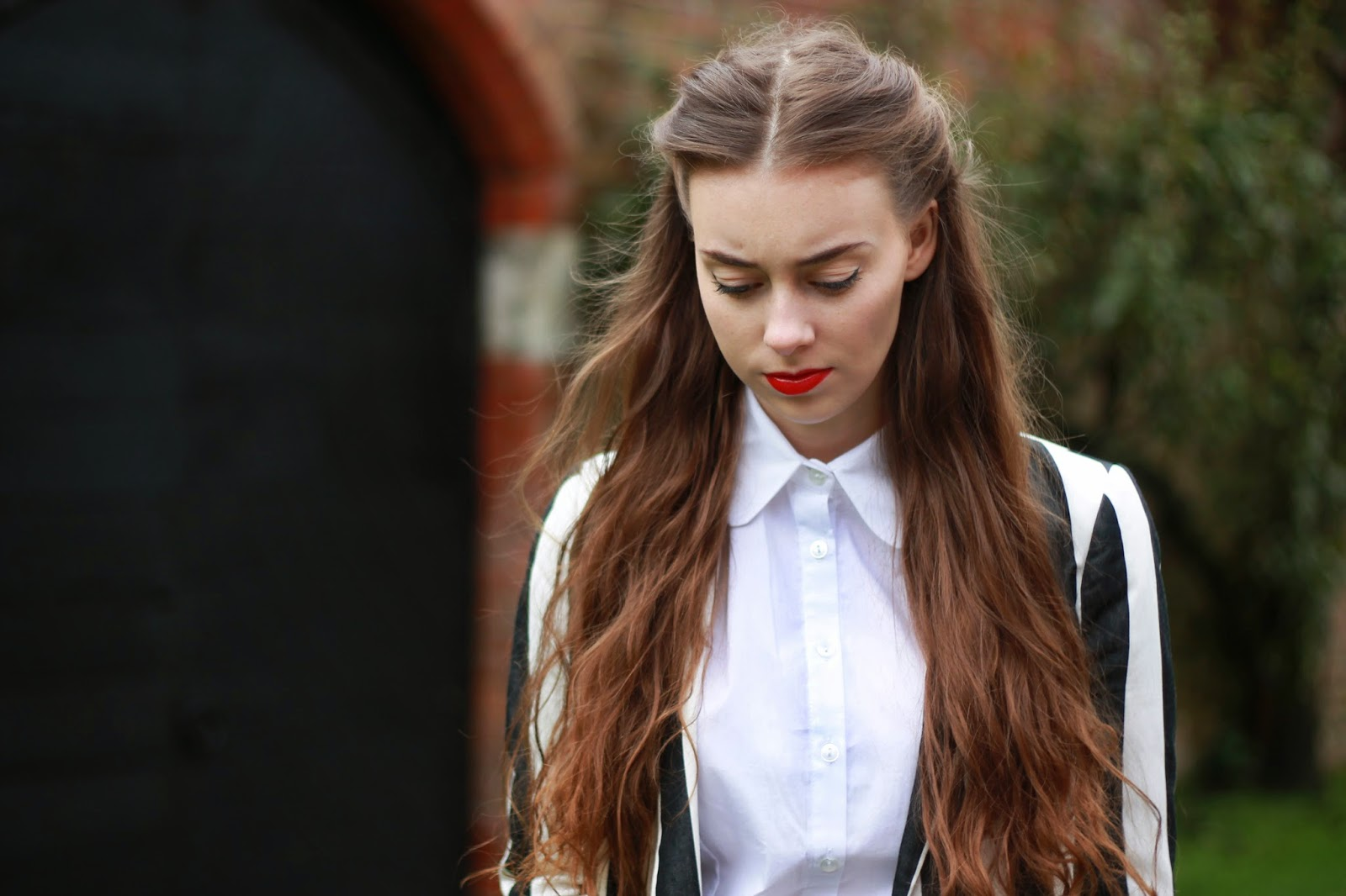 fashion outfit zara Asos blazer collar brogues blogger grace mandeville sisters
