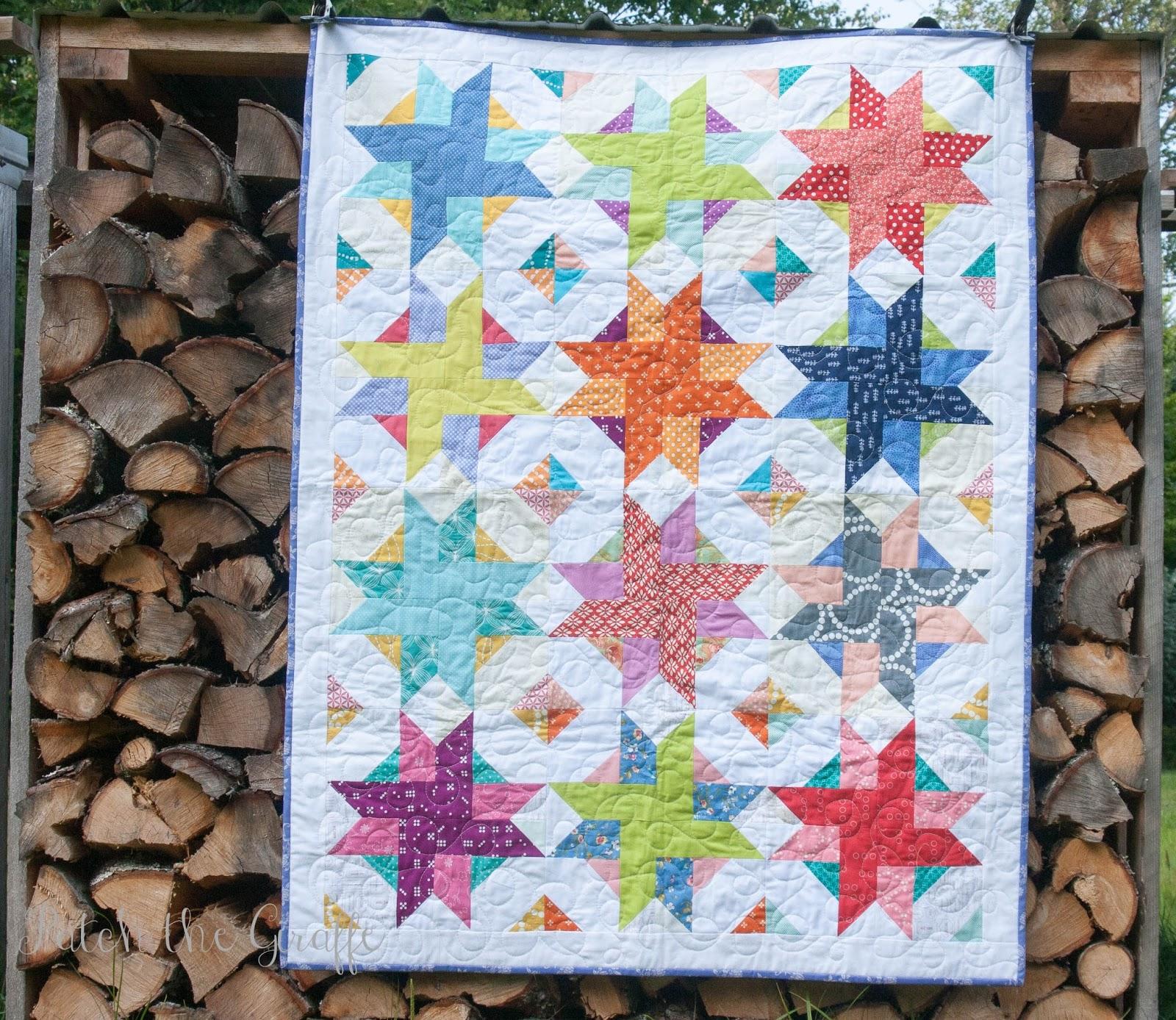 Free Quilt Block Patterns Pinwheel : Patch the Giraffe: Picnic Pinwheels: Pattern