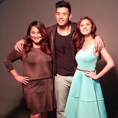 Kim Chiu and Xian Lim with Bride for Rent movie director, Mae Cruz