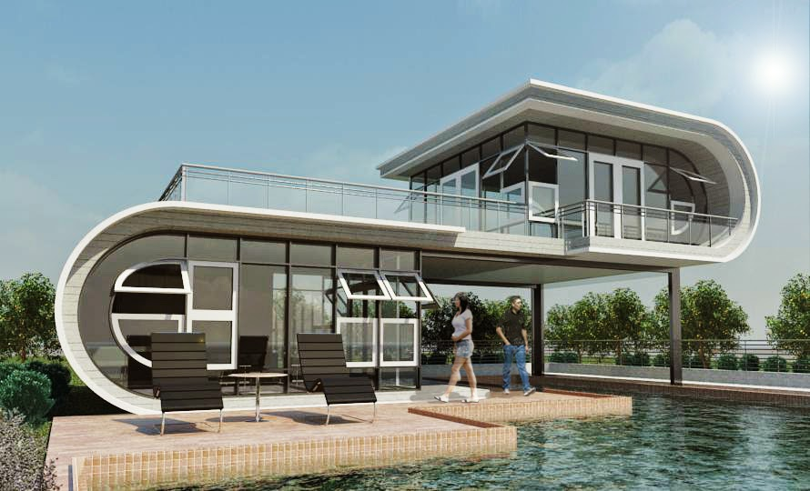 Arkitekton modern house inspired by ludwig mies van der for Architecture modern house design 2 point perspective view