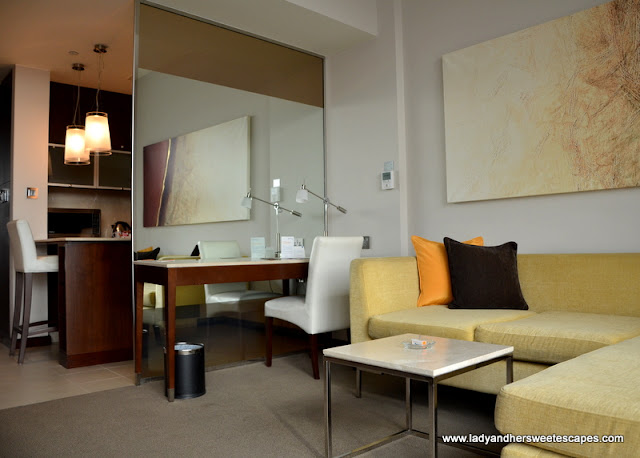 contemporary furnishing in a studio at Centro Sharjah