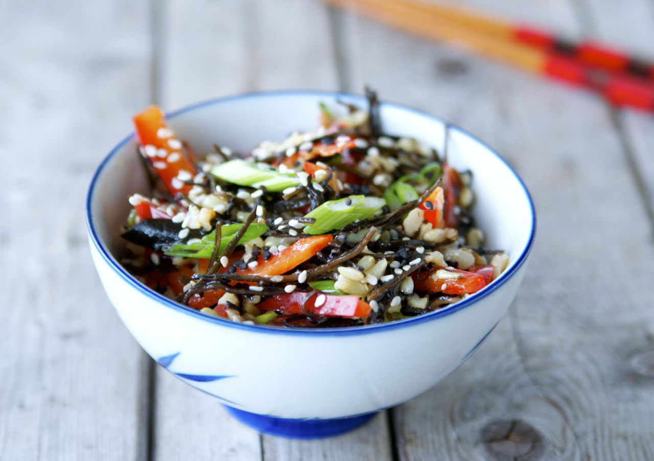 Brown Rice & Arame Seaweed Salad