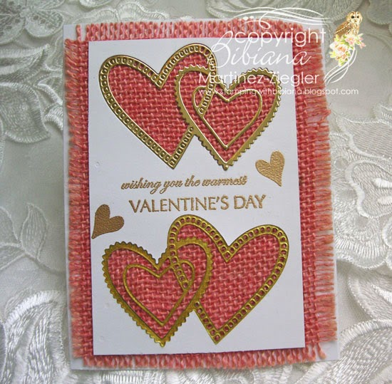 pink burlap and gold hearts for valentines last view
