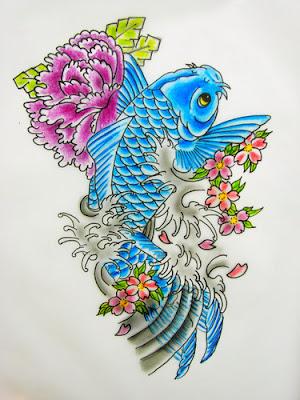 Desenhos de Tatuagens Femininas de Carpa