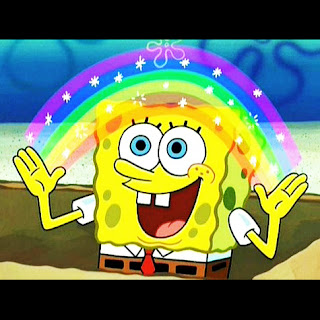 meme spongebob polosan imajinasi