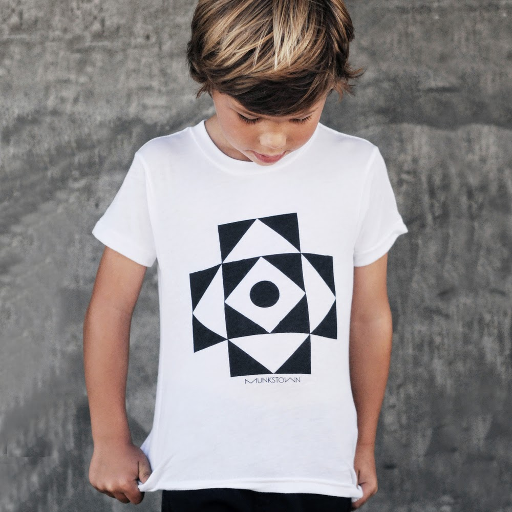 Cool graphic works for Munkstown spring 2014 kids clothes collection