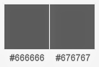 Grey #666666 compared to grey #676767