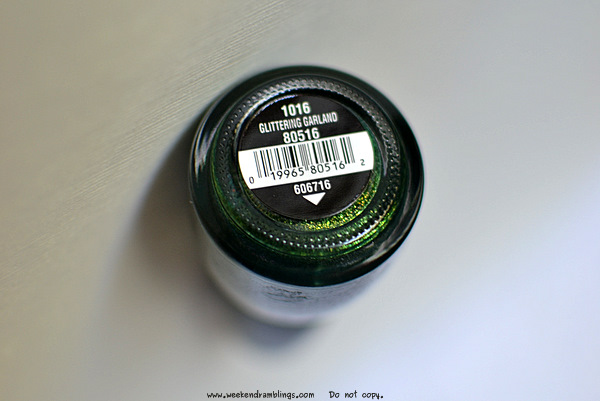china glaze nail polishes colours makeup blog swatches notd glittering garland green holiday spirits 2011 collections
