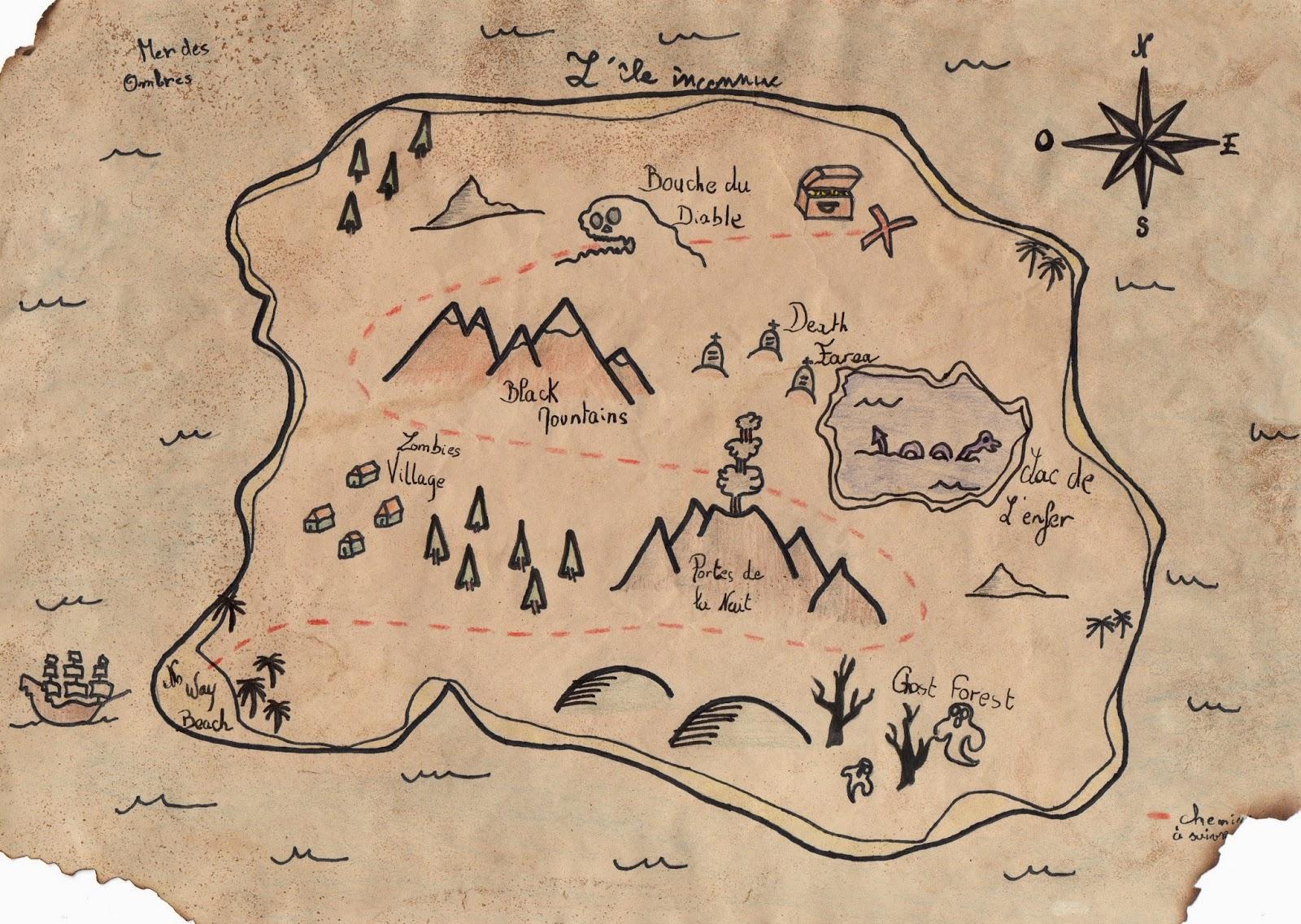 Très bien La carte au trésor | Créer avec Mme Delmotte &LR_13