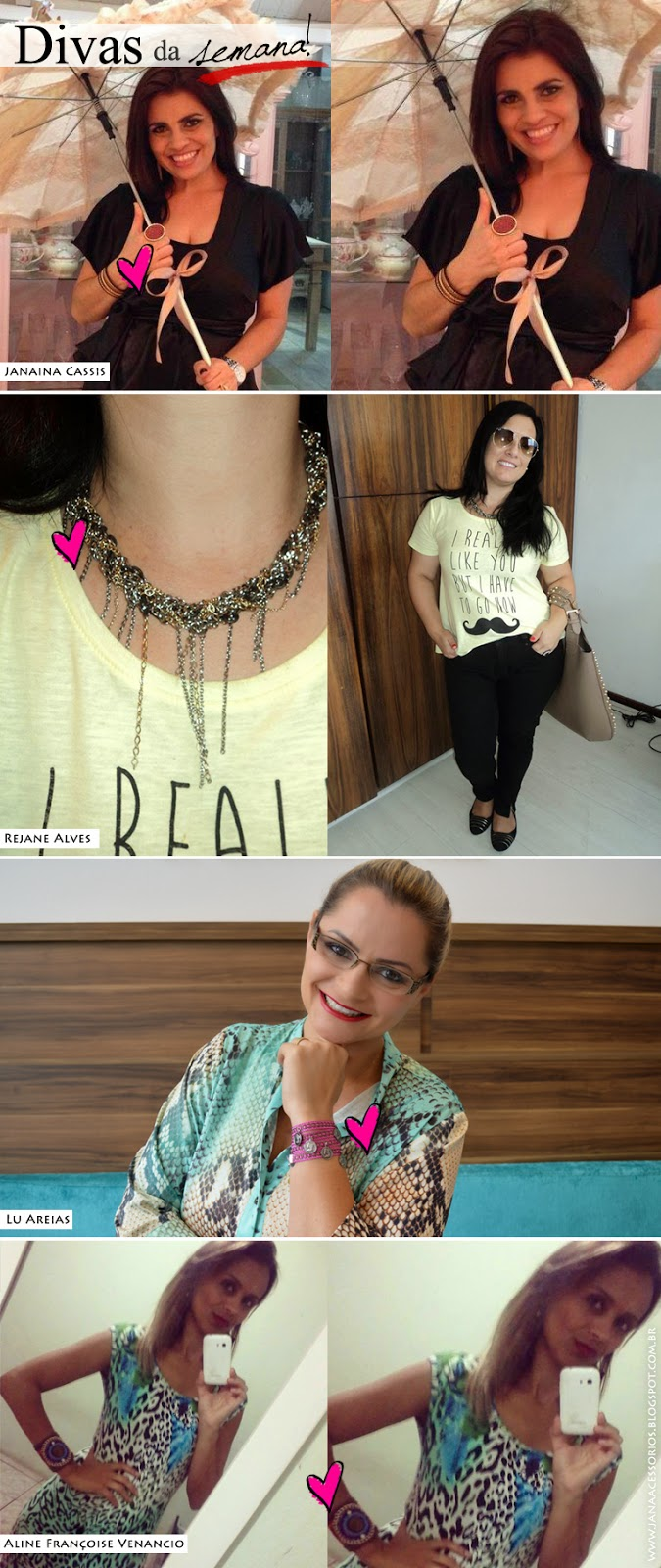 Blog da Jana, blog de acessórios, Divas, clientes, Joinville, colar, brinco, tees