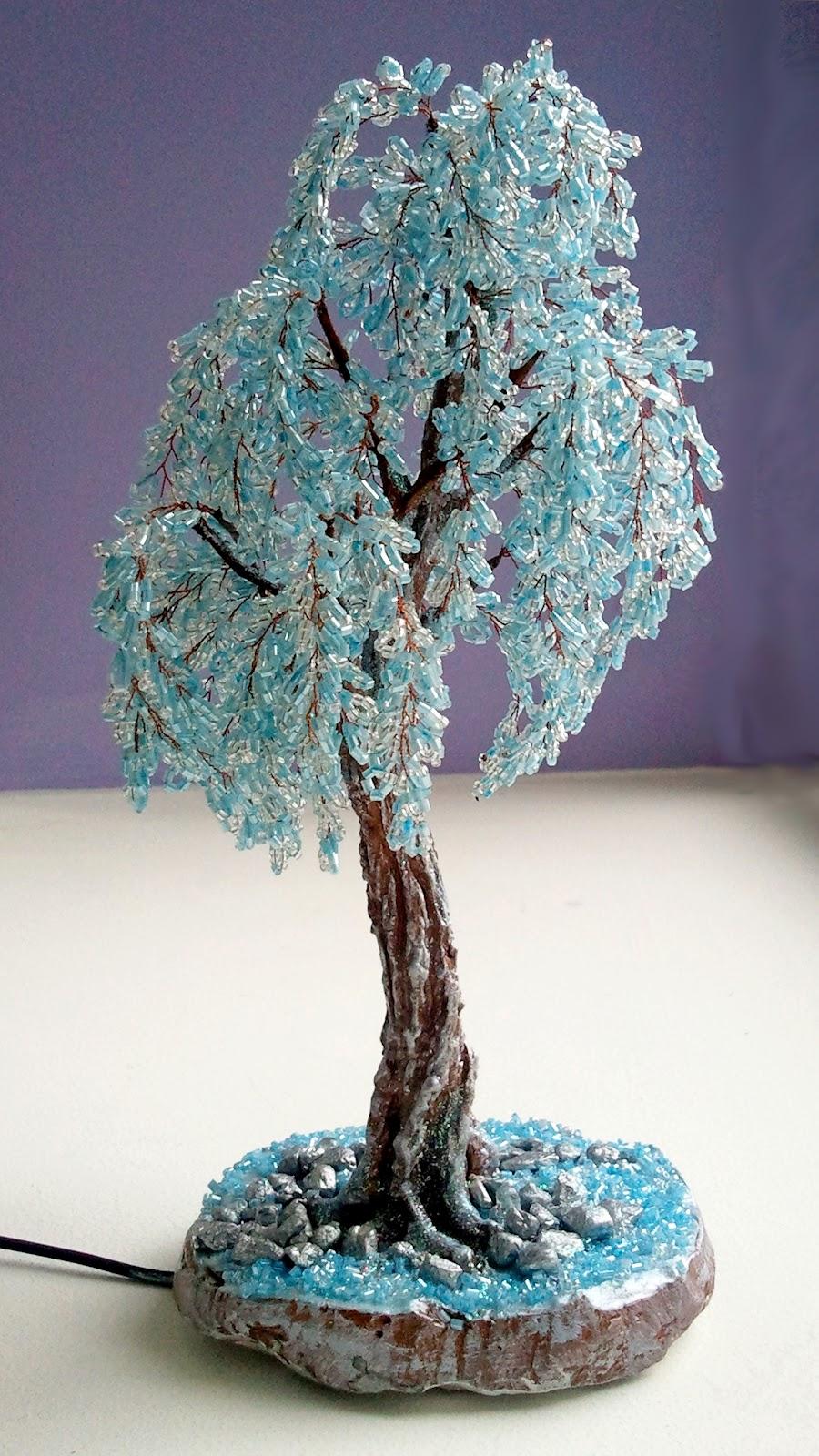 зимние деревья из бисера мк с пошаговым
