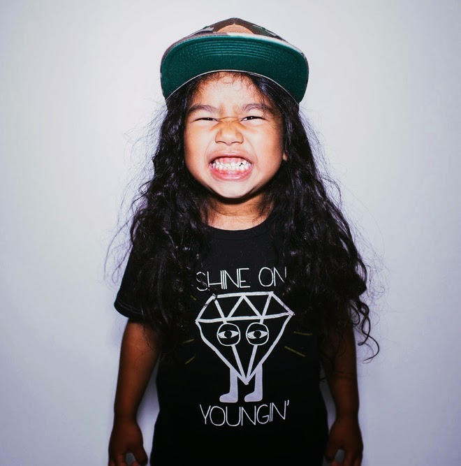 "Tiny Whales: kids tee ""shine on youngin'"""