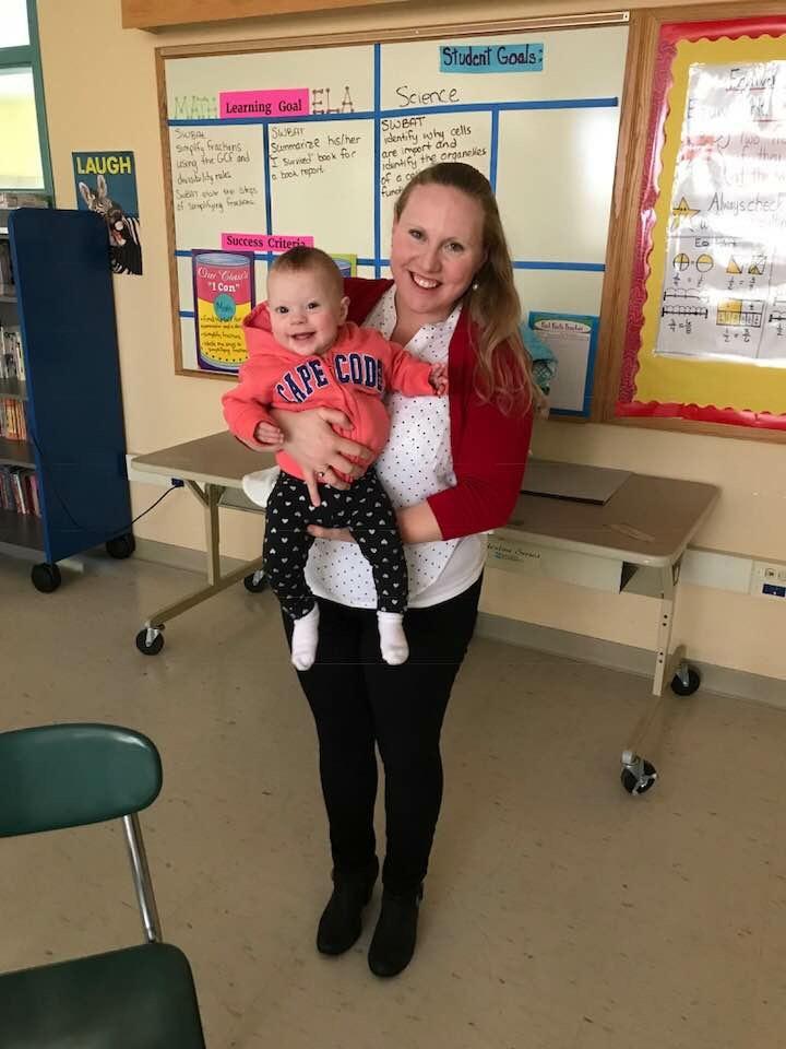 Baby Maya's first day at school