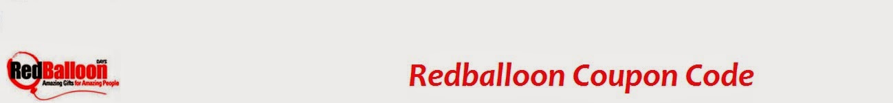 RedBalloon Coupon Code - Deal upto 35% Off RedBalloon Coupon Codes