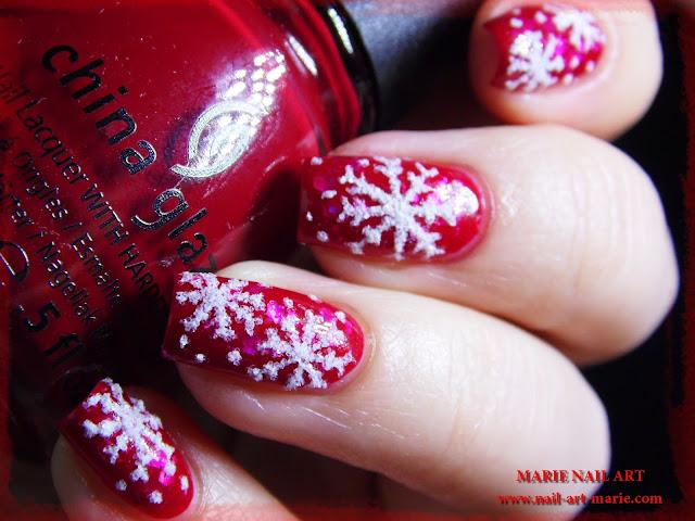 Nail Art de Noël Flocons de Neige6