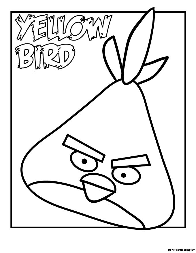 Angry birds disegno da colorare n 3 for Yellow angry bird coloring page