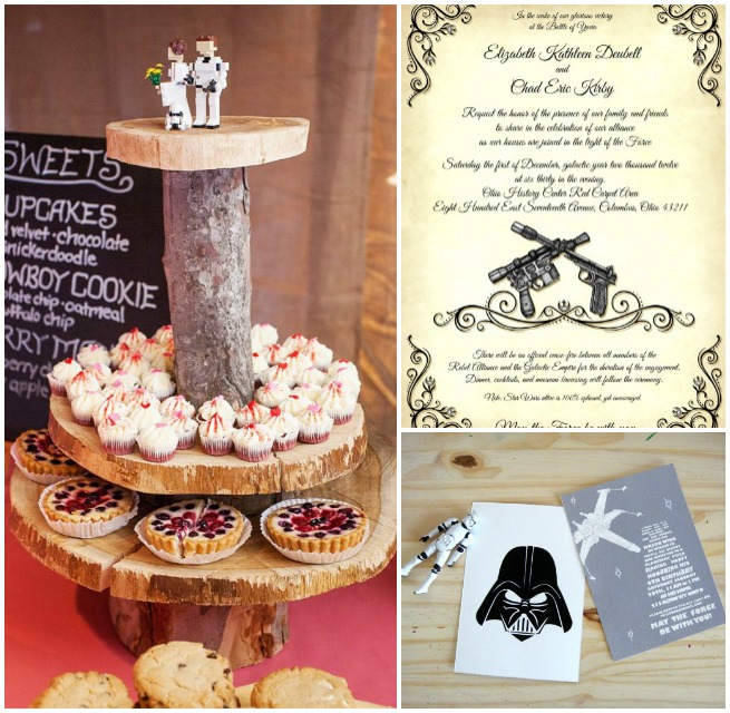 star wars wedding inspiration invitation cake topper invitacion guerra de las galaxias 2