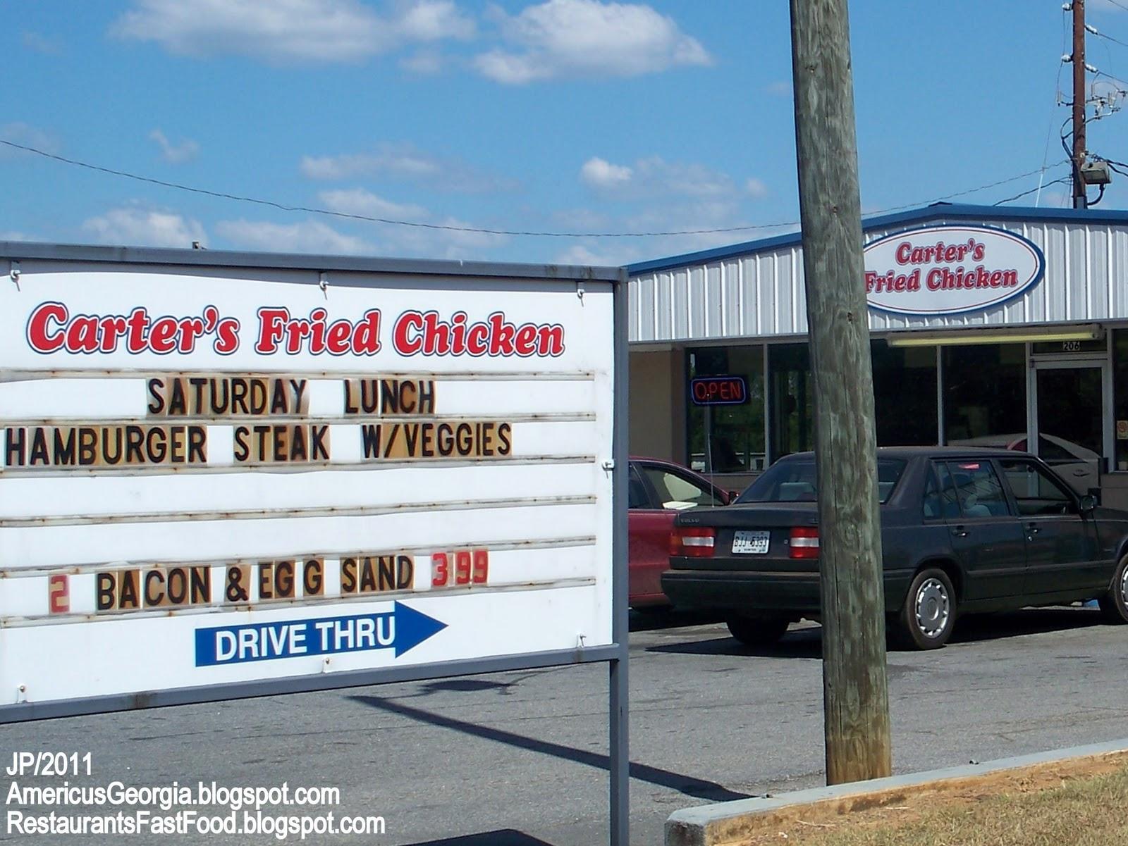 Carter S Fried En Americus Georgia Tripp Street Fast Food Restaurant Sumter County Ga
