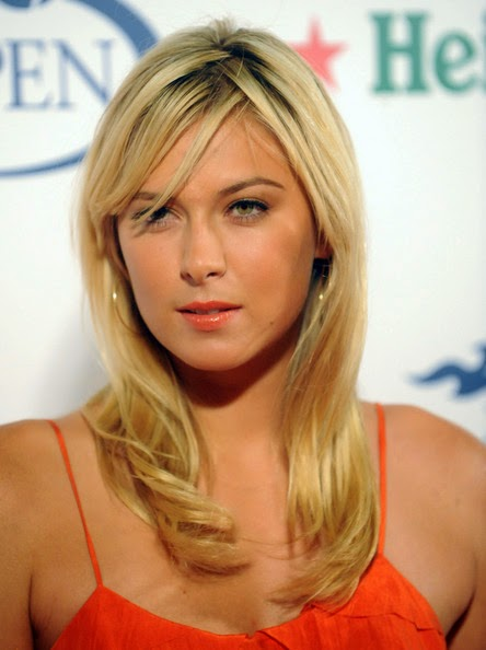 Maria Sharapova hot HD Wallpapers while Playing tennis