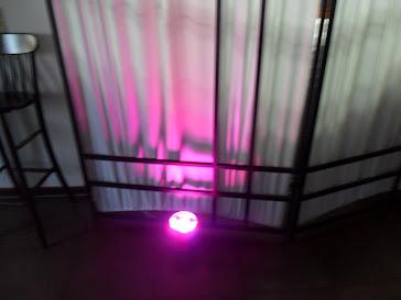 Canhão de led com variação de cores