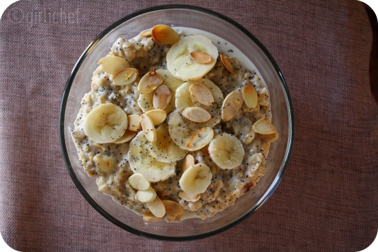 Oatmeal w/ Bananas, Poppy Seeds, Cinnamon, & Toasted Almonds <i>(...Let&#39;s Get Naked and eat breakfast!)</i>