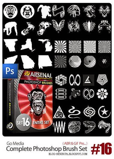 Gomedia Complete Photoshop Brush set 16