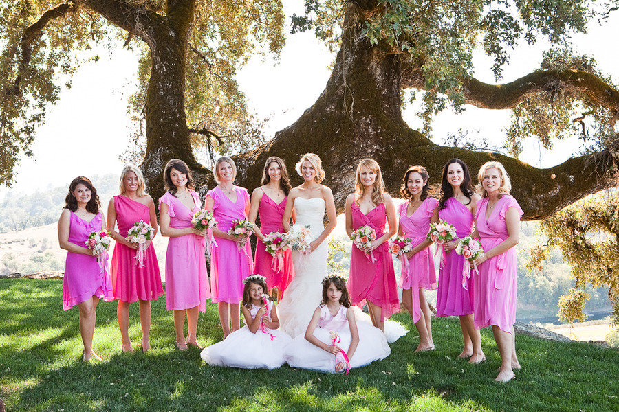 Weddream: Damas de honor en rosa