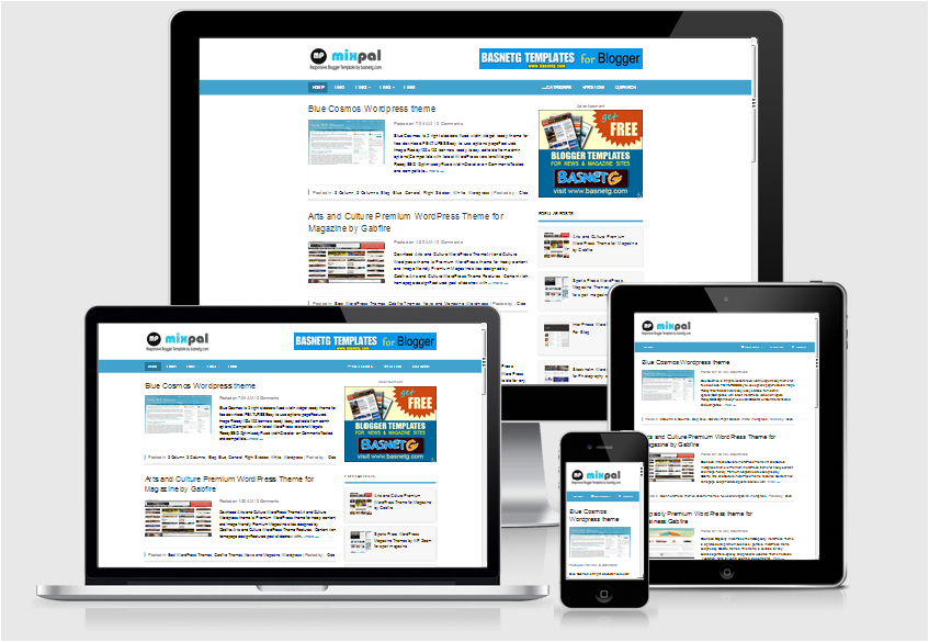 mixpal - simple seo responsive blogger template