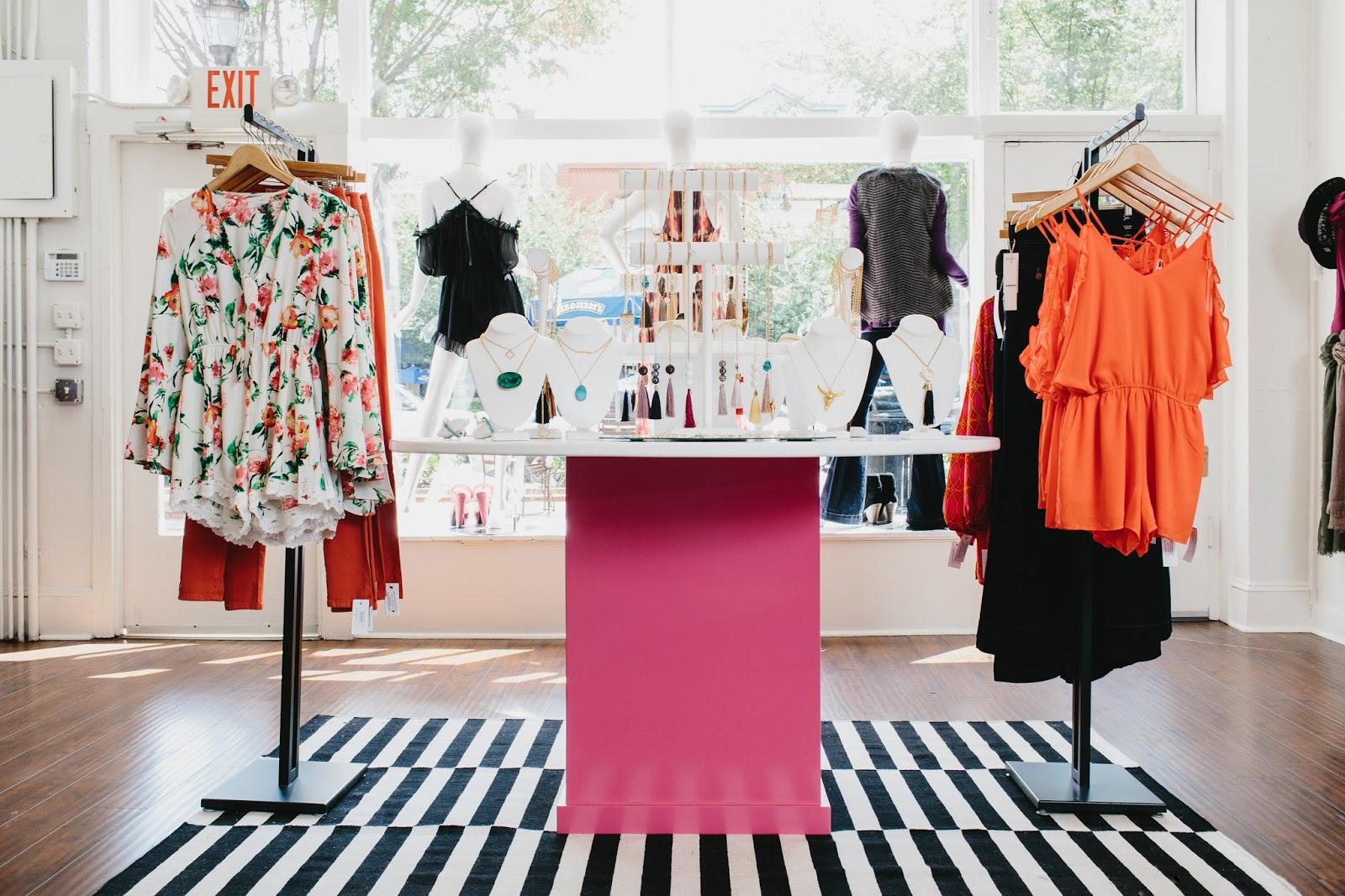Red dress boutique returns furniture